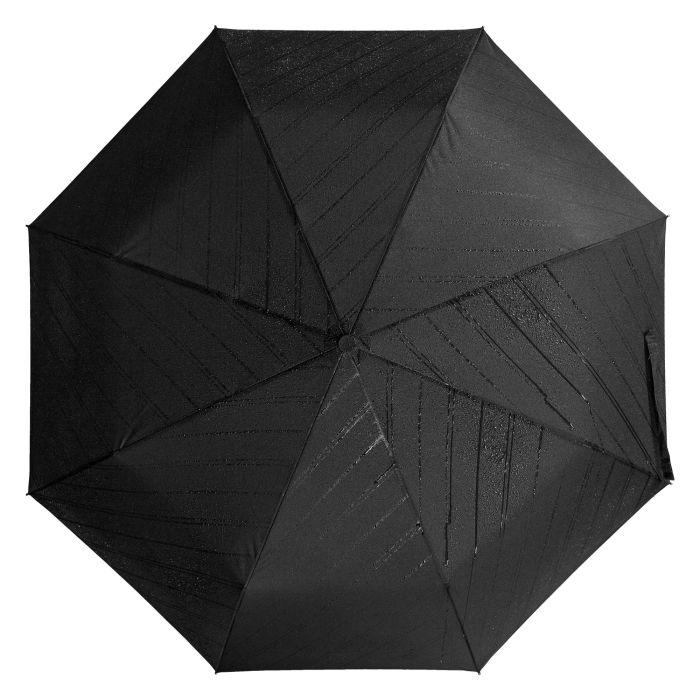 Зонт складной Magic с проявляющимся рисунком, чёрный