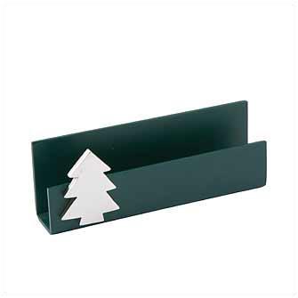 """Подставка для визиток """"Елочка"""", металл, магнит, темно-зеленая"""