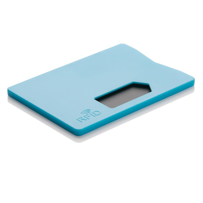 Держатель для карт с защитой от сканирования (RFID), синий