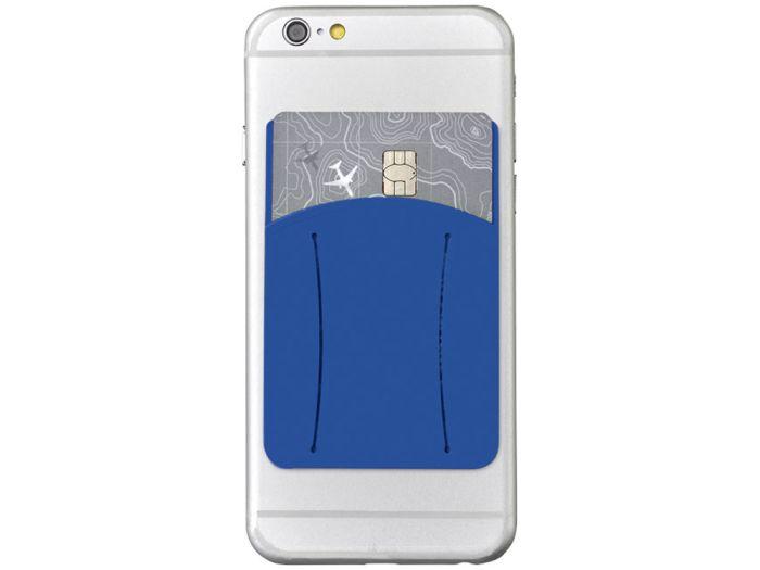 Картхолдер для телефона с отверстием для пальца, цвет ярко-синий