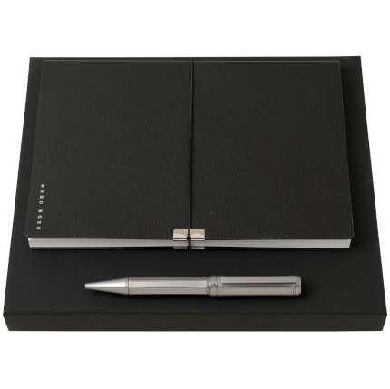 Набор Hugo Boss: еженедельник и ручка, черный