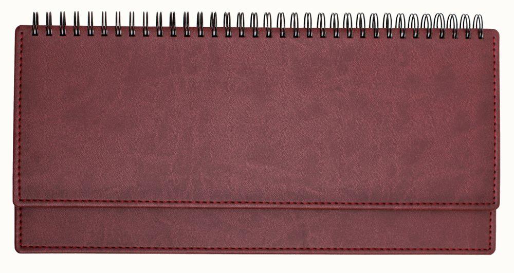 Планинг недатированный (11.161-4700), Вивелла, 30,3x15 см, цвет бордовый, блок белый