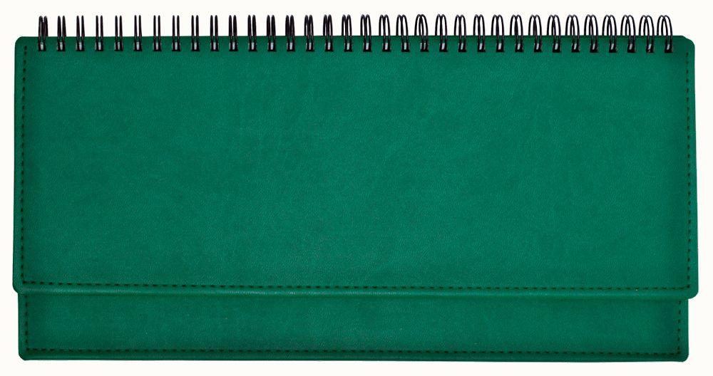 Планинг недатированный (11.161-4720), Вивелла, 30,3x15 см, цвет зелёный, блок белый