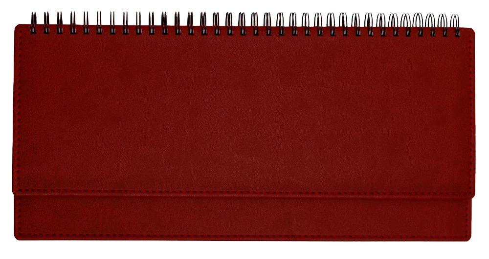 Планинг недатированный (11.161-4872), Вивелла, 30,3x15 см, цвет красный, блок белый