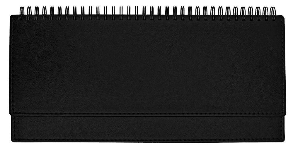 Планинг недатированный (11.161-Nero), Небраска, 30,3x15 см, цвет чёрный, блок белый