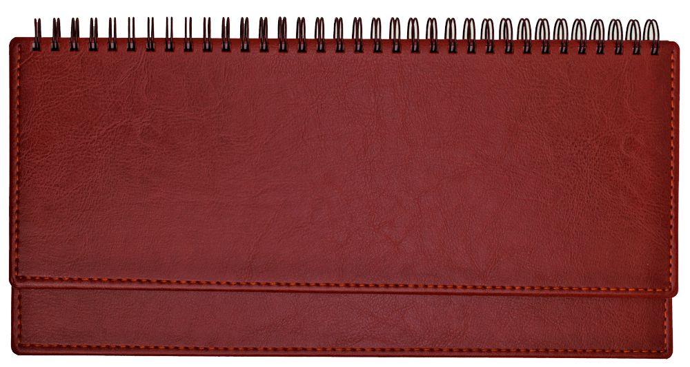 Планинг недатированный (11.161-А222), Небраска, 30,3x15 см, цвет красный, блок белый