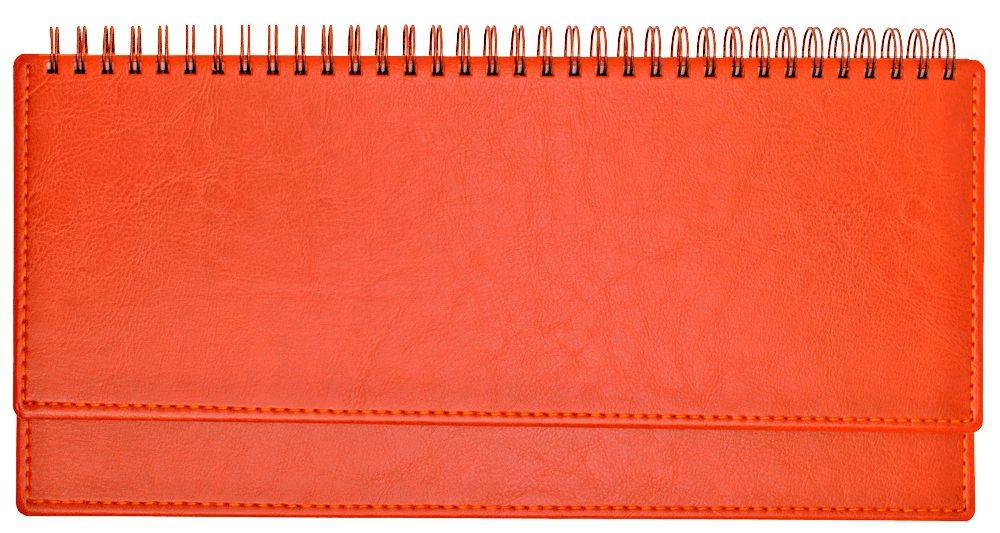 Планинг недатированный (11.161-А837), Небраска, 30,3x15 см, цвет оранжевый, блок белый