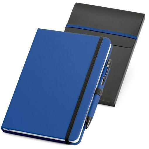 Набор: блокнот Advance A5 с ручкой, чёрный с синим