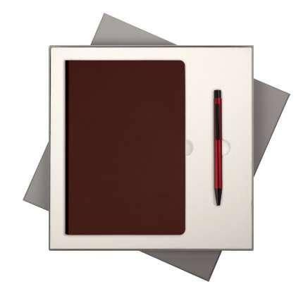 Подарочный набор Portobello Trend/Spark бургунди (Ежедневник недат А5, Ручка)
