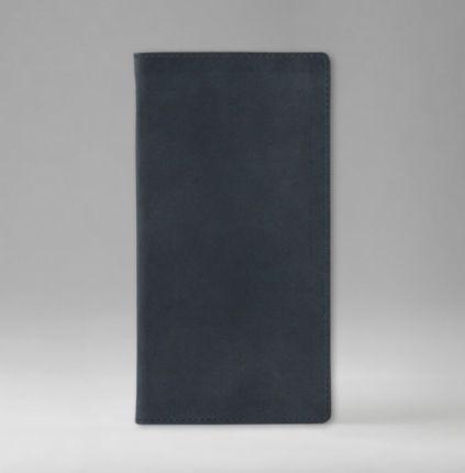 Телефонная книга с РУС./LAT. регистром 8х15 см, серия Рубрика, материал Принт, (арт. 386), цвет темно-синий