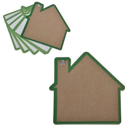 """Промо-блокнот """"Дом"""", 13х12,5 см, цвет зеленый"""