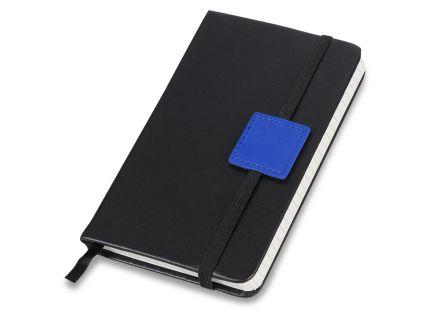 """Блокнот бренд Lettertone модель """"LABEL"""", формат A6, черный/синий"""