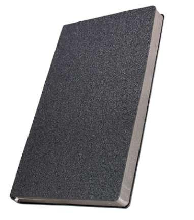 Премиум-блокнот, формат A5 (11.0825-F359), Кордюрой, цвет тёмно-серый, срез серебристый