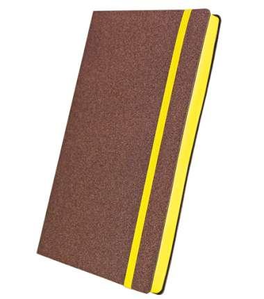 Премиум-блокнот, формат A5 (11.08235-F341), Юта, цвет коричневый, срез желтый, резинка желтая
