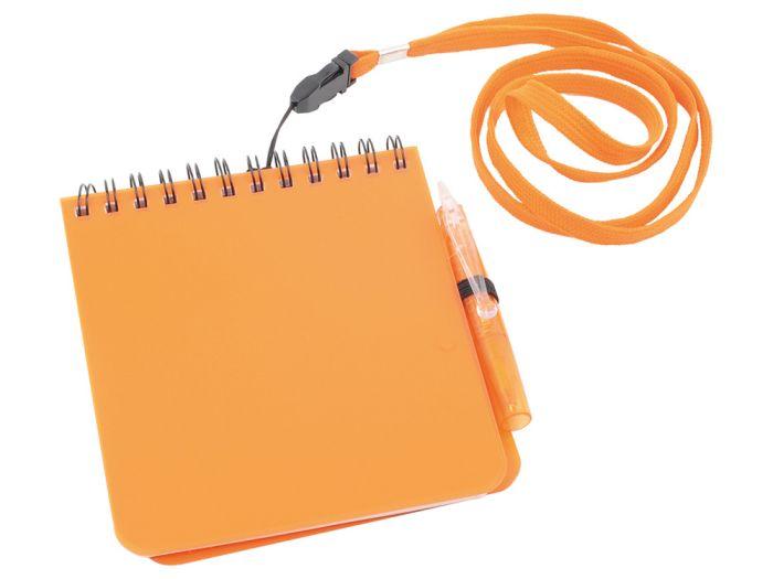 """Блокнот """"Журналист"""" с ручкой, формат А6, цвет оранжевый"""
