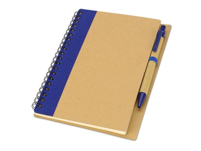 """Блокнот """"Priestly"""" с ручкой, формат А6, цвет натуральный с тёмно-синим"""