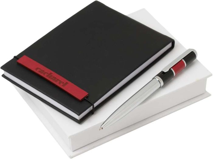 Набор Cacharel: дизайнерский блокнот А6, шариковая ручка