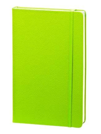 """Записная книжка (бренд InFolio) коллекция """"Lifestyle"""", формат A5, переплёт твердый с резинкой, цвет салатовый"""