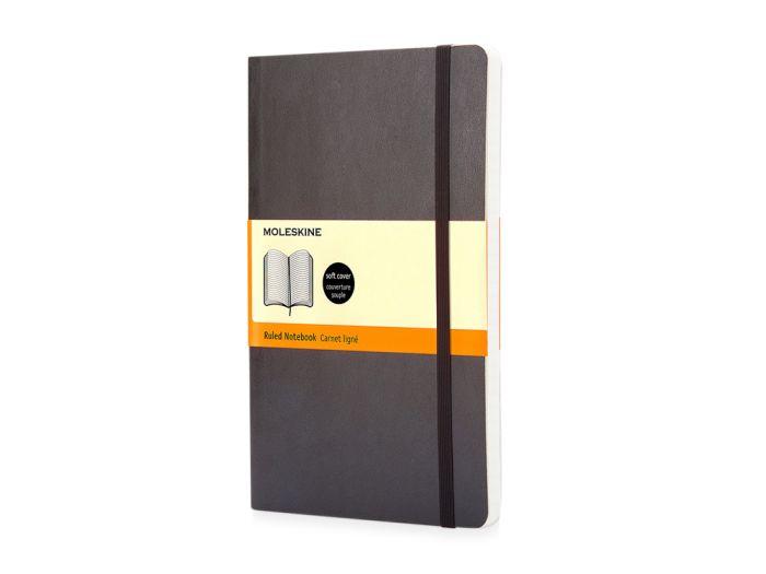 Записная книжка Classic Soft, формат A5 (блок в линейку), цвет чёрный
