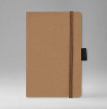 Записная книга в линейку 9х14 см, серия Айвори, материал Текс, (арт. 391), цвет коричневый