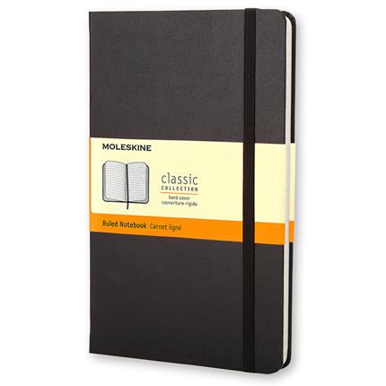 Записная книжка Classic, Pocket, формат A6 (блок в линейку), цвет чёрный