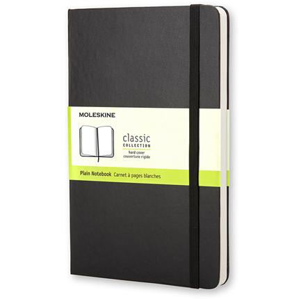 Записная книжка Classic, формат A5 (блок нелинованный), цвет чёрный