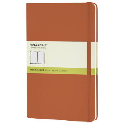 Записная книжка Classic, Large, формат A5 (блок нелинованный), цвет оранжевый коралл