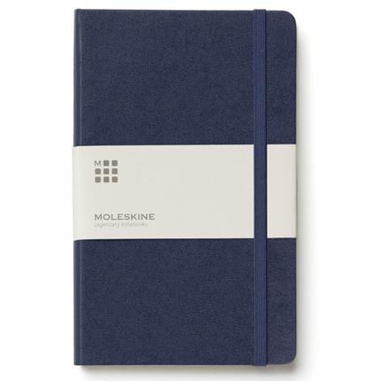 Записная книжка Classic, Large, формат A5 (блок в линейку), цвет синий