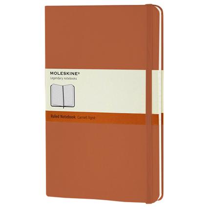 Записная книжка Classic, Large, формат A5 (блок в линейку), цвет оранжевый коралл