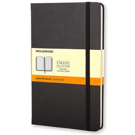 Записная книжка Classic, Large, формат A5 (блок в линейку), цвет чёрный