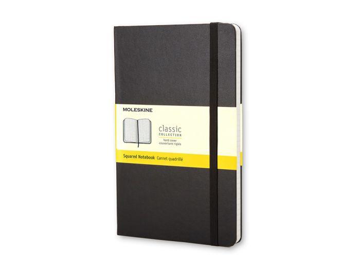 Записная книжка Classic, формат A5 (блок в клетку), цвет чёрный