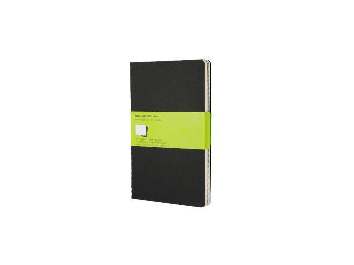 Набор записных книжек Cahier, Large, формат A5 (блок нелинованный), цвет чёрный