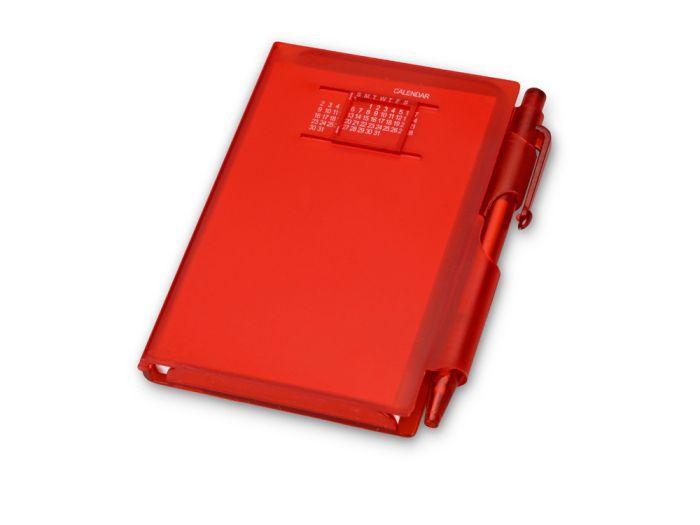 """Записная книжка """"Альманах"""" с ручкой, цвет красный"""