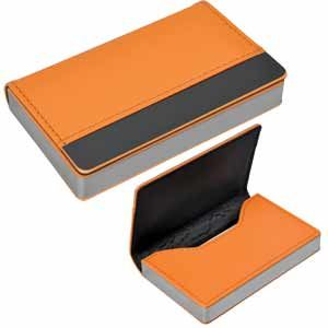 """Визитница """"Горизонталь"""", цвет оранжевый"""