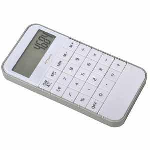Калькулятор из пластика, цвет белый