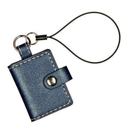 Подвеска малая на мобильный телефон с рамкой для фото, темно-синяя
