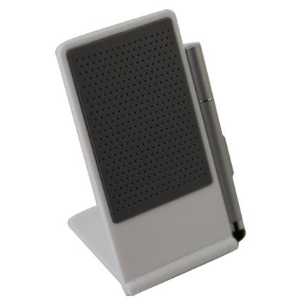 Подставка для телефона с ручкой-стилусом, белая