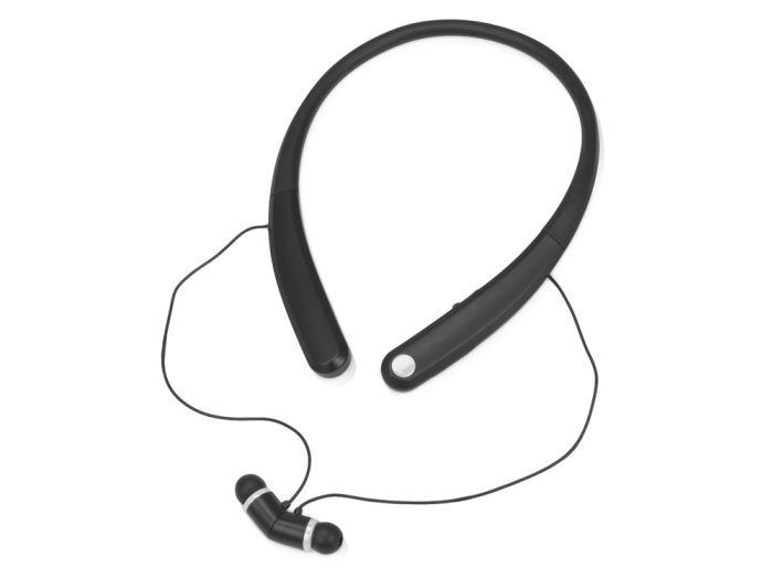"""Наушники """"Soundway"""" с функцией Bluetooth, цвет чёрный с белым"""