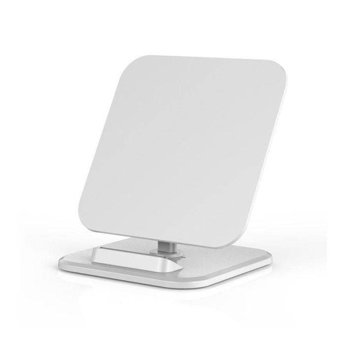 Настольная подставка для смартфона с беспроводным зарядным устройством, цвет белый