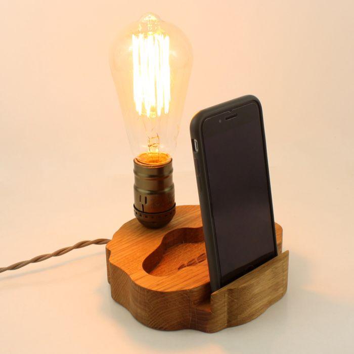 Светильник с подставкой для телефона SVT002 148х143х35 мм.