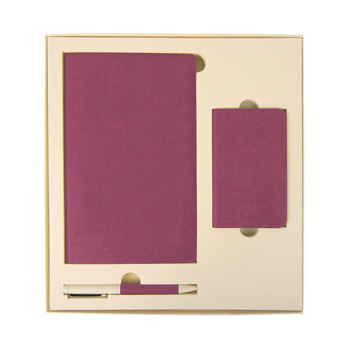 Набор подарочный PROVENCE: универсальное зарядное устройство (4000 мАh), блокнот и ручка, цвет розовый