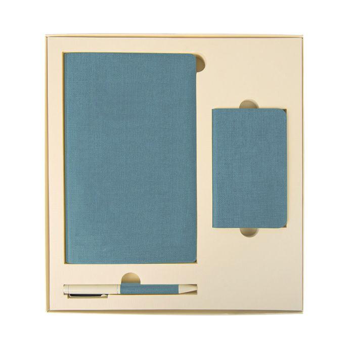 Набор подарочный PROVENCE: универсальное зарядное устройство (4000 мАh), блокнот и ручка, цвет голубой