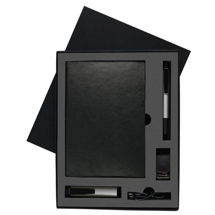 Набор Twizzy Tower: зарядное устройство (2200мАh), блокнот, USB flash-карта и ручка в подарочной упаковке