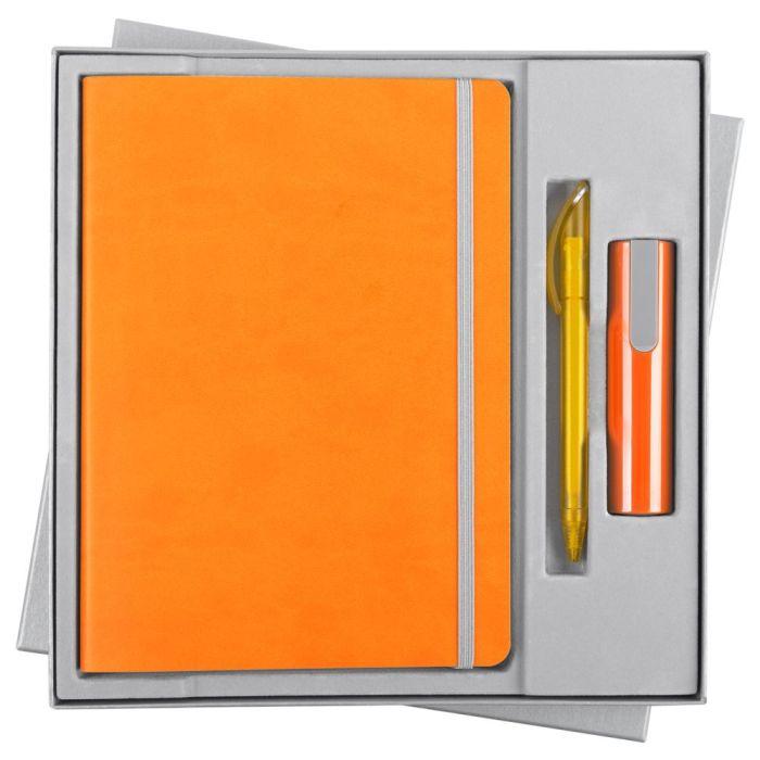 Набор Vivid Energy: ежедневник, ручка и аккумулятор 2200 мАч, цвет оранжевый