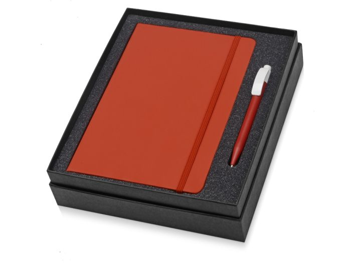 Набор Uma Vision: ручка и блокнот А5, цвет красный