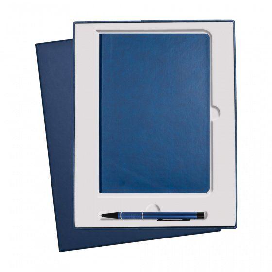 Подарочный набор Portobello Sky: ежедневник недатированный А5 и ручка, синий