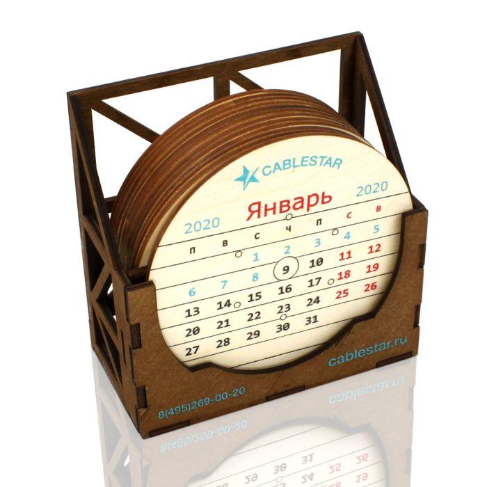 Настольный календарь DS119 фанера