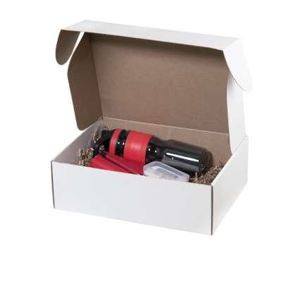 Подарочный набор Portobello красный в большой универсальной подарочной коробке (Спортбутылка, Ежедневник недат А5, Power bank, Ручка, Флешка)
