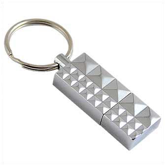 "USB-Flash накопитель (флешка) ""Replica"" металлический с кольцом для ключей,  4 Gb"
