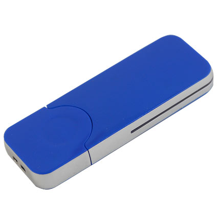"USB-Flash накопитель (флешка) ""BIG"",  4 Gb, с красной подсветкой. Синий"